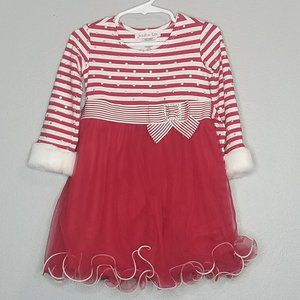 Jessica Ann Christmas dress red white 2T